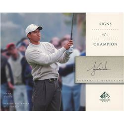 Tiger Woods 2004 SP Signature Signs of a Champion 8x10 #TW4 White Long Slv