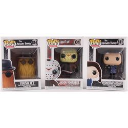"""Lot of (3) Funko Pop! Vinyl Figures with """"The Addams Family"""" - Wednesday Addams #811  Cousin Itt #81"""