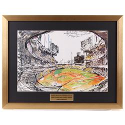 "LeRoy Neiman ""Sandy Koufax vs. Mickey Mantle"" 19x24.5 Custom Framed Print Display"