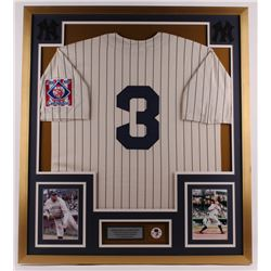 Babe Ruth New York Yankees 32x36 Custom Framed Jersey with Babe Ruth Commemorative Pin