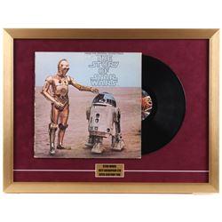 "Vintage 1977 ""Star Wars"" 19x25 Custom Framed Vinyl Soundtrack Record Album Display"