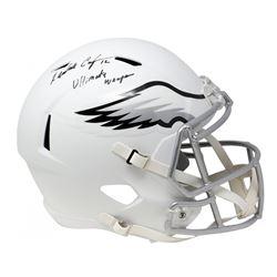 "Randall Cunningham Signed Eagles Full-Size Matte White Speed Helmet Inscribed ""Ultimate Weapon"" (JSA"