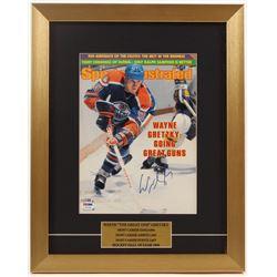 Wayne Gretzky Signed Oilers 14x17.5 Custom Framed Magazine Display (PSA COA)
