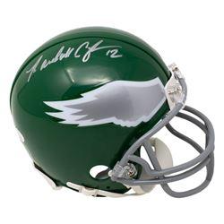 Randall Cunningham Signed Eagles Throwback Mini Helmet (JSA COA)