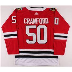 Corey Crawford Signed Blackhawks Jersey (Beckett COA)