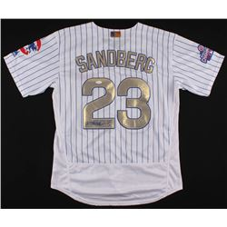 Ryne Sandberg Signed Cubs 2016 World Series Champions Jersey (JSA COA)
