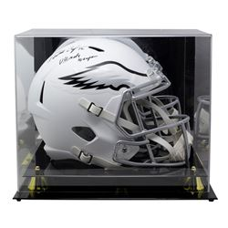 """Randall Cunningham Signed Eagles Full-Size Matte White Speed Helmet Inscribed """"Ultimate Weapon"""" With"""