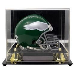Randall Cunningham Signed Eagles Throwback Mini Helmet With Display Case (JSA COA)