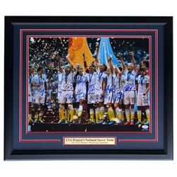 2015 Team USA World Cup 22x27 Custom Framed Photo Display Team-Signed by (11) with Alex Morgan, Carl