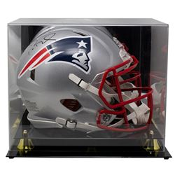 Tom Brady Signed Patriots Full-Size Authentic On-Field Speed Helmet With Display Case (TriStar Holog