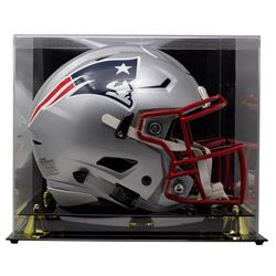Tom Brady Signed Patriots Full-Size Authentic On-Field SpeedFlex Helmet With Display Case (TriStar H
