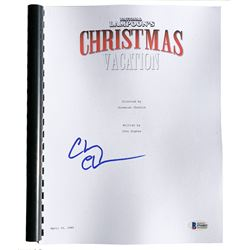 "Chevy Chase Signed ""National Lampoon's Christmas Vacation"" Movie Script (Beckett COA)"