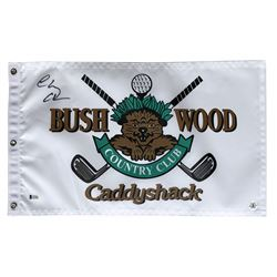 "Chevy Chase Signed ""Caddyshack"" Bushwood Country Club Golf Pin Flag (Beckett COA  Chase Hologram)"