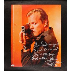 "Kiefer Sutherland Signed ""24"" 23x24 Canvas Print with Extensive Inscription (JSA COA)"