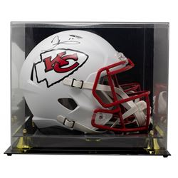 Tyreek Hill Signed Chiefs Full-Size Matte White Speed Helmet With Display Case (JSA COA)