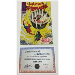 """Stan Lee Signed 1968 """"The Amazing Spider-Man"""" #61 Marvel Comic Book (Lee COA)"""