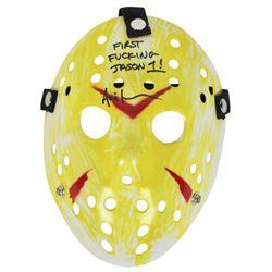 "Ari Lehman Signed ""Friday the 13th"" Mask Inscribed ""First F****** Jason!"" (Beckett COA)"