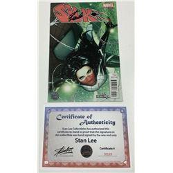 "Stan Lee Signed 2015 ""Silk"" #1 Hastings Exclusive Variant Cover Marvel Comic Book (Lee COA)"