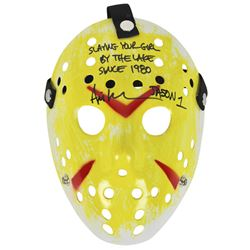 """Ari Lehman Signed """"Friday the 13th"""" Mask Inscribed """"Jason 1""""  """"Slaying Your Girl By The Lake Since 1"""