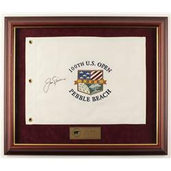 Jack Nicklaus Signed LE 22.5x26.5 Custom Framed 100th U.S. Open Golf Flag Display (Nicklaus Hologram