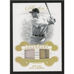 Lou Gehrig 2019 Panini Flawless Legendary Dual Materials Gold #LMLG1