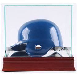 Pee Wee Reese Signed Dodgers Mini-Helmet with Display Case (PSA COA)