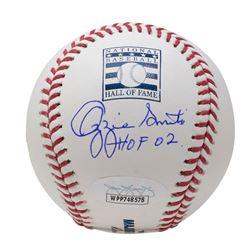 "Ozzie Smith Signed OML Hall Of Fame Baseball Inscribed ""HOF 02"" (JSA COA)"