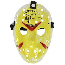 """Ari Lehman Signed """"Friday the 13th"""" Mask Inscribed """"License To Kill!""""  """"Jason 1"""" (Beckett COA)"""