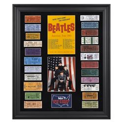 The Beatles 1964 American Tour 22x27 Custom Framed Ticket Collage Display