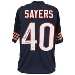 """Gale Sayers Signed Jersey Inscribed """"HOF 1977"""" (PSA COA)"""