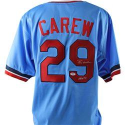 "Rod Carew Signed Jersey Inscribed ""HOF 91"" (PSA COA)"
