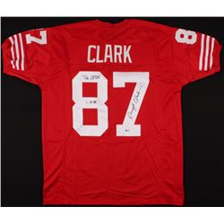 "Dwight Clark Signed Jersey Inscribed ""The Catch""  ""1.10.82"" (Beckett COA)"