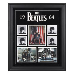 The Beatles 1964 20x27 Custom Framed Photo Collage Display