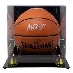 Magic Johnson Signed NBA Game Ball Series Basketball with High-Quality Display Case (Beckett COA)