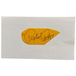 """Pistol"" Pete Maravich Signed Cut (Beckett LOA)"
