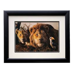 """2019 The Lion King """"Return to the Pride Lands"""" 16x18 Custom Framed Photo Display"""