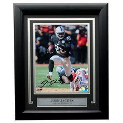 Josh Jacobs Signed Raiders 11x14 Custom Framed Photo Display (Beckett COA  Jacobs Hologram)