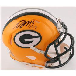 Davante Adams Signed Packers Speed Mini Helmet (JSA COA)