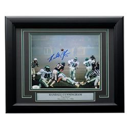 "Randall Cunningham Signed Eagles 1988 ""Fog Bowl"" 11x14 Custom Framed Photo Display (JSA COA)"