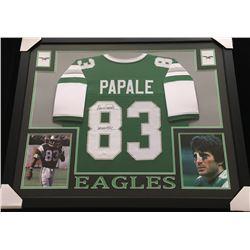"Vince Papale Signed 34x44 Custom Framed Jersey Inscribed ""Invincible"" (JSA COA)"