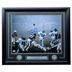 "Randall Cunningham Signed Eagles 1988 ""Fog Bowl"" 22x27 Custom Framed Photo Display Inscribed ""Ultima"