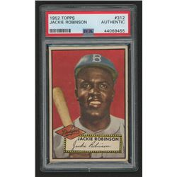 Jackie Robinson 1952 Topps #312 (PSA Authentic)