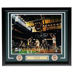 Larry Bird Signed Celtics 22x27 Custom Framed Photo Display (Beckett COA  Bird Hologram)