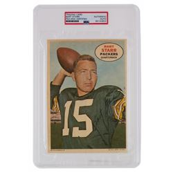 Bart Starr Signed 1968 Topps Posters Inserts #4 (PSA Encapsulated)