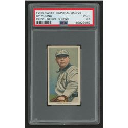 Cy Young 1909-11 T206 #525 / Glove Shows - Sweet Caporal (PSA 3.5)