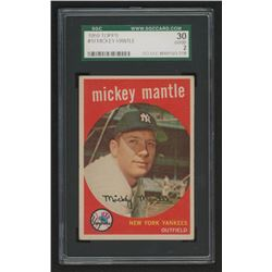 Mickey Mantle 1959 Topps #10 (SGC 2)