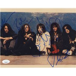 The Black Crowes 8x10 Photo Band-Signed by (5) with Chris Robinson, Rich Robinson, Jeff Cease, Steve