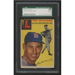 Ted Williams 1954 Topps #250 (SGC 4)