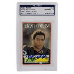"Marcus Allen Signed 1983 Topps #294 RC Inscribed ""SB XVIII MVP"" (PSA Encapsulated)"