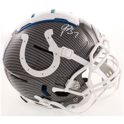 Jacoby Brissett Signed Colts Full-Size Authentic On-Field F7 Hydro-Dipped Helmet (JSA COA)